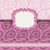 foto of lice  - Cute eenvelop with Paisley lice ornament - JPG