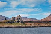 picture of bute  - Duart Castle is a castle on the Isle of Mull off the west coast of Scotland within the council area of Argyll and Bute - JPG