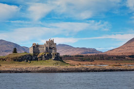 pic of bute  - Duart Castle is a castle on the Isle of Mull off the west coast of Scotland within the council area of Argyll and Bute - JPG