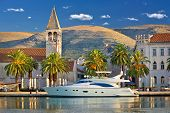 foto of yachts  - Town of Trogir yachting waterfront UNESCO world heritage site in Dalmatia Croatia - JPG