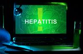 stock photo of hepatitis  - Notebook with words  hepatitis  - JPG