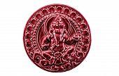 picture of hindu-god  - Red Ganesha The God Of Hindu isolated on white background - JPG