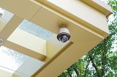 pic of cctv  - CCTV security camera surveillance on the wall - JPG