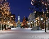 picture of burlington  - A photo of Church street Burlington VT at Christmas - JPG