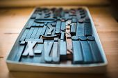 pic of movable  - Old wooden printing type - JPG