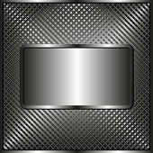 foto of plaque  - grid texture with metallic plaque  - JPG