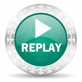 picture of christmas song  - replay green icon - JPG