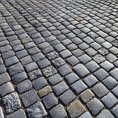 stock photo of cobblestone  - texture of cobblestone background in harmonic pattern - JPG