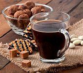 image of baked raisin cookies  - Italian cookies Florentino with raisins and walnuts - JPG