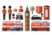 pic of bus driver  - Set of icons and symbols on the United Kingdom - JPG