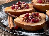 picture of walnut  - Baked pears with cranberries - JPG