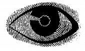 picture of dna fingerprinting  - a fingerprint designet eye modern symbol good quality - JPG