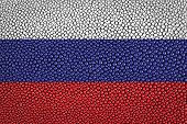 pic of stingray  - Russia Flag painted on stingray skin texture - JPG
