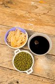 stock photo of bean sprouts  - Soy beans - JPG
