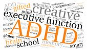 image of prone  - ADHD word cloud on a white background - JPG