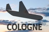picture of koln  - Airplane icon  - JPG
