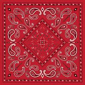 pic of red-necked  - Red Bandana Print - JPG