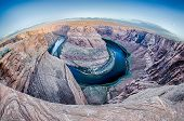 picture of horseshoe  - at the Horseshoe Bend near Page Arizona