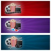 foto of popcorn  - Abstract movie banners - JPG