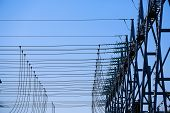 pic of substation  - Converter station special type of transformer substation in electric system grid converting high - JPG