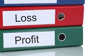 stock photo of profit  - Loss and profit finances in company business concept - JPG