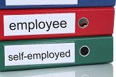 stock photo of self-employment  - Employee or self - JPG