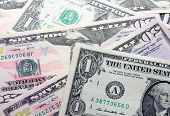 picture of american money  - Background with money american dollar United States bills - JPG