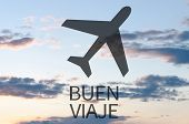 image of bon voyage  - Airplane icon  - JPG