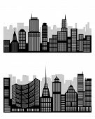 stock photo of city silhouette  - Vector illustration of a silhouette of the city - JPG