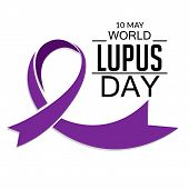 stock photo of lupus  - illustration of stylish ribbon for World Lupus Day in white background - JPG