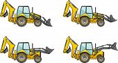 stock photo of backhoe  - Detailed illustration of backhoe loaders - JPG