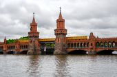 pic of bridges  - The Oberbaum bridge is a double - JPG