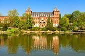 picture of turin  - valentino castle in the city of turin - JPG