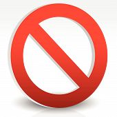 pic of no entry  - Red prohibition restriction  - JPG