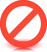stock photo of no entry  - Red prohibition restriction  - JPG