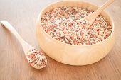 pic of whole-grain  - Multi whole grain of organic jusmine rice - JPG