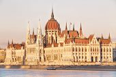 image of hungarian  - View of hungarian Parliament building at day in Budapest - JPG
