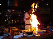Restaurant Japanese Food Fire Chef Gourmet International Sushi Steakhouse