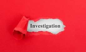 picture of investigation  - Text appearing behind torn red envelop  - JPG