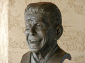 image of ronald reagan  - A bust of Ronald Reagan at his presidential library in California - JPG