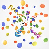 Confetti Explosion On White Background poster