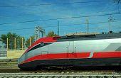 foto of railcar  - a modern train in the station in Milan - JPG