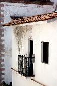 stock photo of taxco  - Typical balcony in the mexican silver town of Taxco - JPG