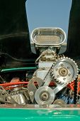 pic of dragster  - supercharger and engine detail on a custom built hot - JPG