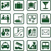 Airport And Travel Icons poster