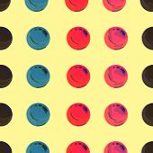 Dotted, Pop Art Background, Pop Art Pattern. Symbolic Background Of Art Of 1960s. Circle Art Round B poster