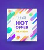 Promotion And Shopping Template For Hot Offer And Sale Promotion, Flyer Design, Social Media Cover,  poster