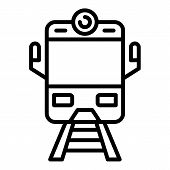 Arriving Train Front View Icon. Outline Arriving Train Front View Vector Icon For Web Design Isolate poster