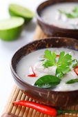 foto of gai  - Thai chicken and coconut milk soup - JPG
