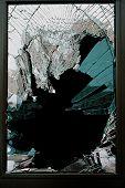 pic of cleaving  - Broken glass door of the new shop - JPG